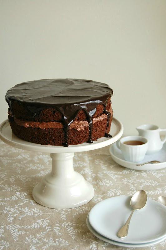 Chocolate victoria sponge cake / Bolo Victoria de chocolate