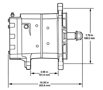 35si Heavy Duty Brushless Alternator Delco Remy