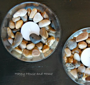 river rock candles 1