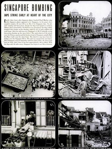 Singapore Bombing - Life Magazine, Feb 2, 1942