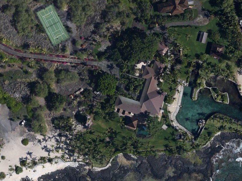 """He also owns a 10-acre property in Kailua-Kona, Hawaii. Known as the """"Thurston Estate,"""" the property has a private harbor and boat shed."""