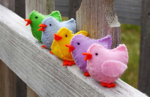 33. Фетровые цыплята дети, поделки, своими руками, сделай сам, творчество