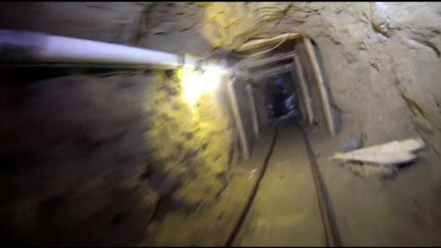 O túnel seria usado para contrabandear drogas (Foto: BBC)