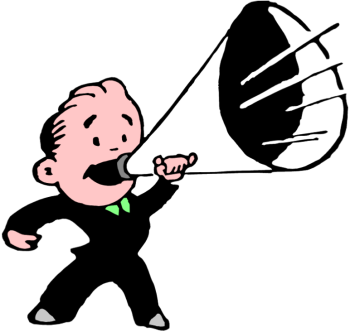 Image result for cartoon graphic megaphone