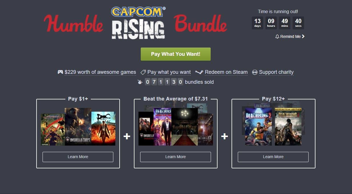 Humble Capcom Rising Bundle Offers Games Discount Coupons