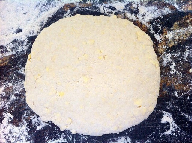 Dough Flattened for Cutting Biscuits