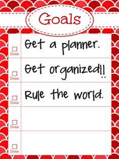 Daily planning, School planner and Yearly calendar on Pinterest
