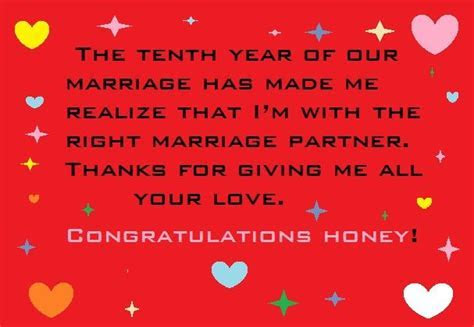 10 Year Wedding Anniversary Messages and Quotes   Greeting