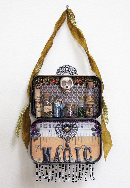 Altered Altoid box by loocie, via Flickr Witch Wiccan Pagan Craft inspiration