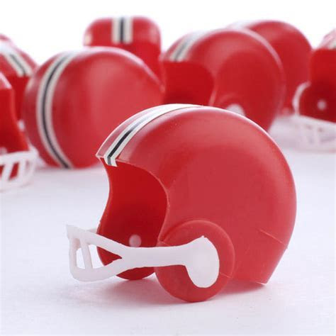 Small Red Football Helmets   Recreational Miniatures