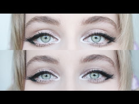 Enlarging Cat Eye Makeup for Big Eyes - YouTube