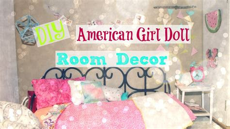 diy american girl doll room decor  youtube