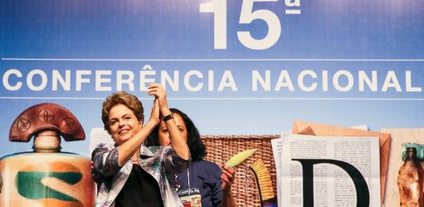 Presidente Dilma Rousseff durante 15ª Conferência Nacional de Saúde, em Brasília
