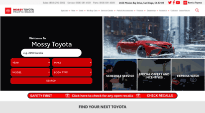 Welcome To Mossytoyota Com Your Local Toyota Dealership In San Diego Mossy Toyota
