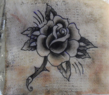 Traditional Black Rose Tattoo Pattern Clip Art Library