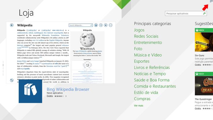 ModernMix adiciona atalho na parte superior direita de apps do Windows 8 para alternar para modo janela (Foto: Reprodução/Elson de Souza)