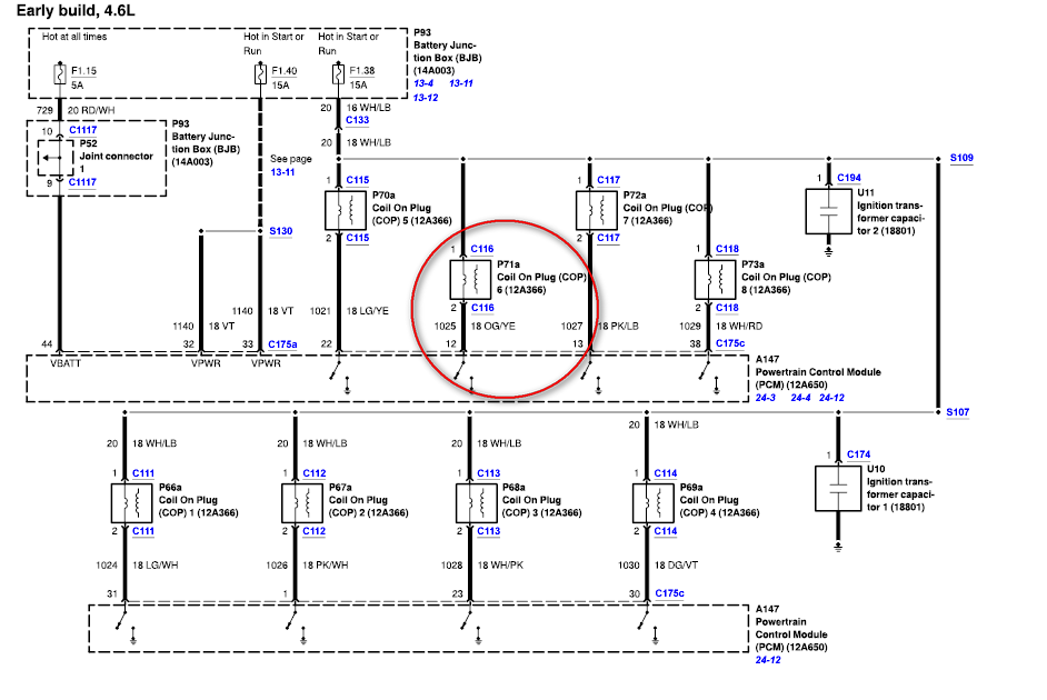 schematics and diagrams: How to test PCM( POWER CONTROL MODULE) for Ford 4.6l Engine?