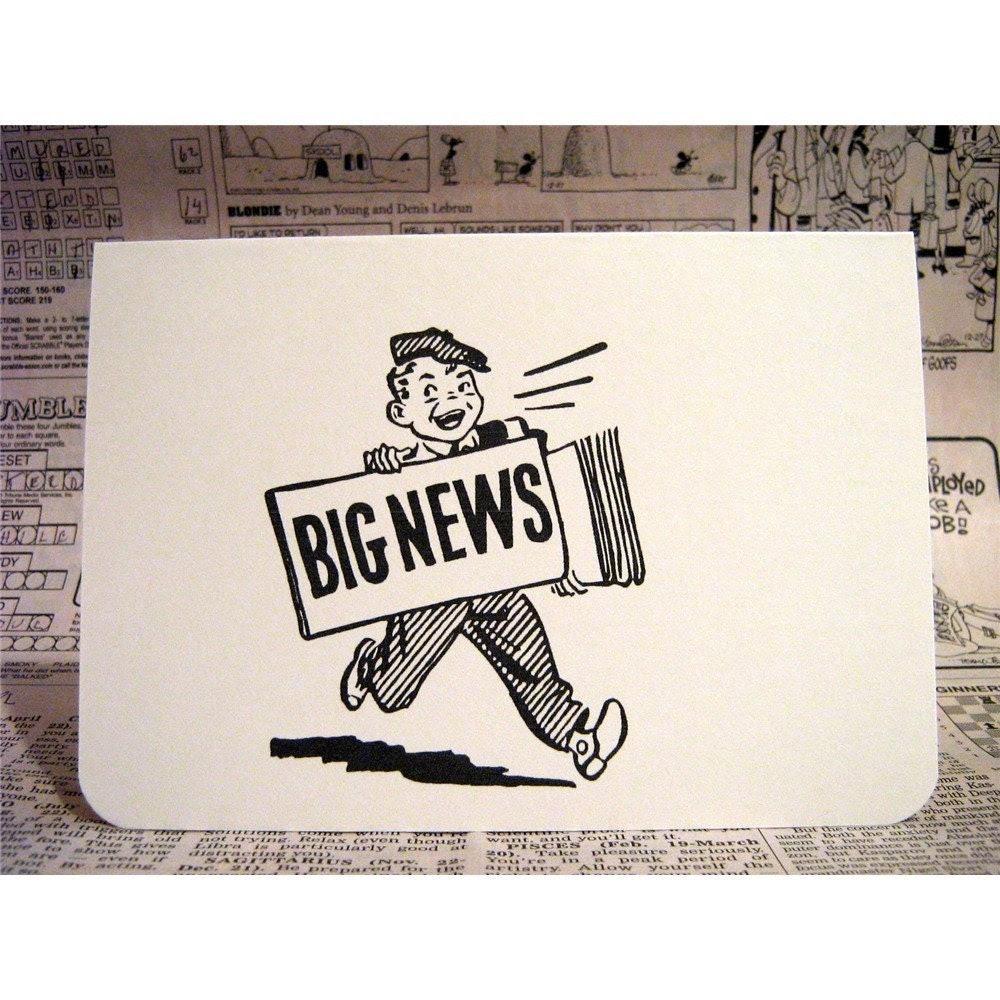 big news note card
