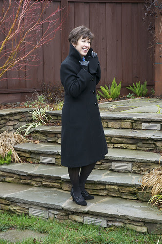 Coat collar up side