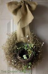 nest in wreath