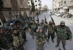 חיילים סורים חוגגים ביברוד