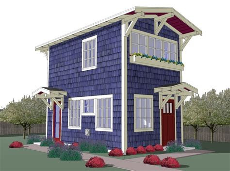 sq ft tiny backyard cottage plans