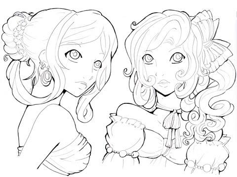 Dibujo De Chicas Jóvenes Para Colorear Dibujos Para Colorear