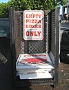 Pizza box collection point Old Orchard Beach ME