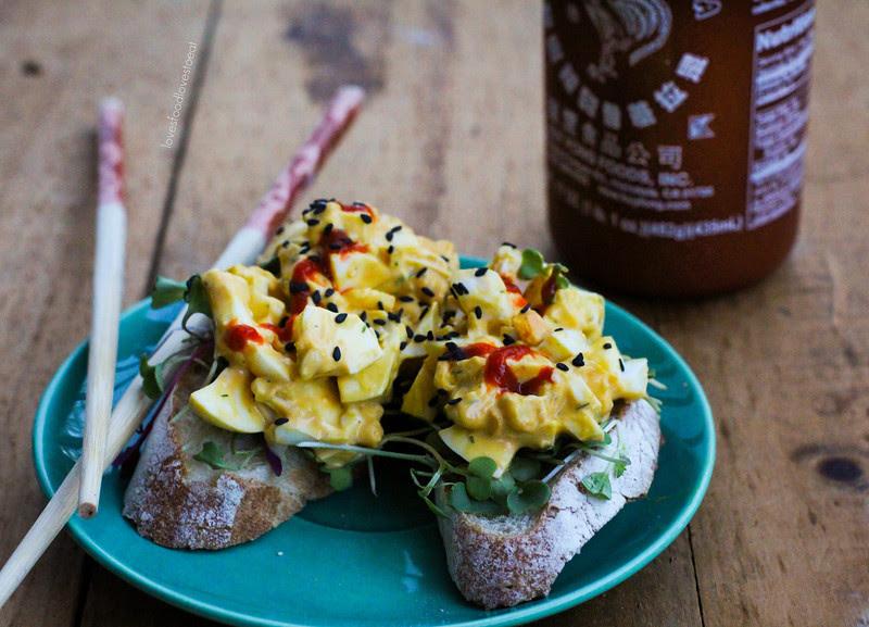 Sesame Sriracha Egg Salad// Loves Food, Loves to Eat
