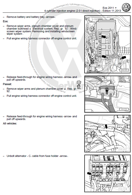 Volkswagen Eos 2011 2016 Repair Manual Factory Manual