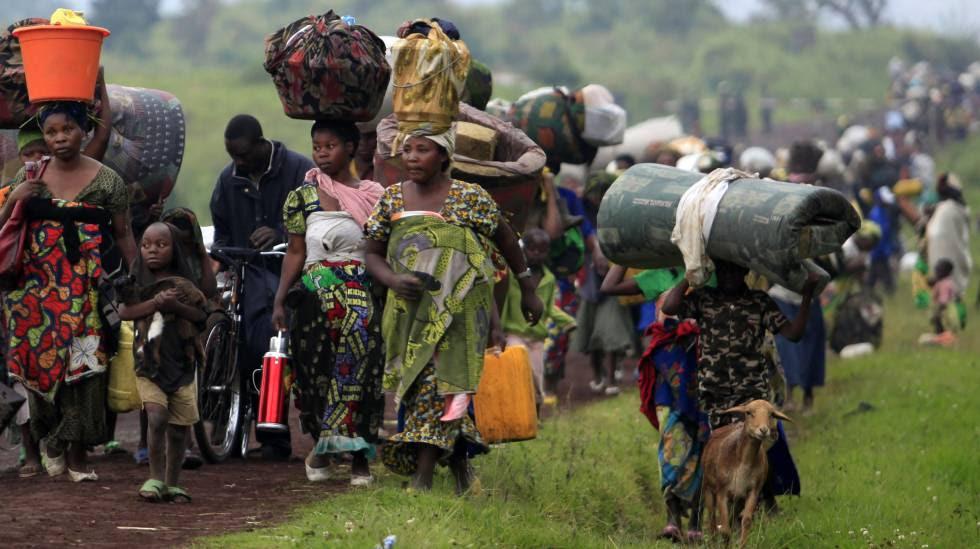Desplazados internos en la RDC.