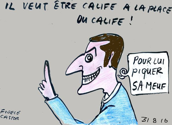 Risultati immagini per Macron le dragueur