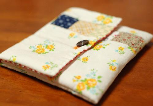 Patchwork button pouch