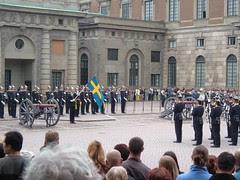 Changing Guard kat Kungliga Slottet, Stockholm, Sweden