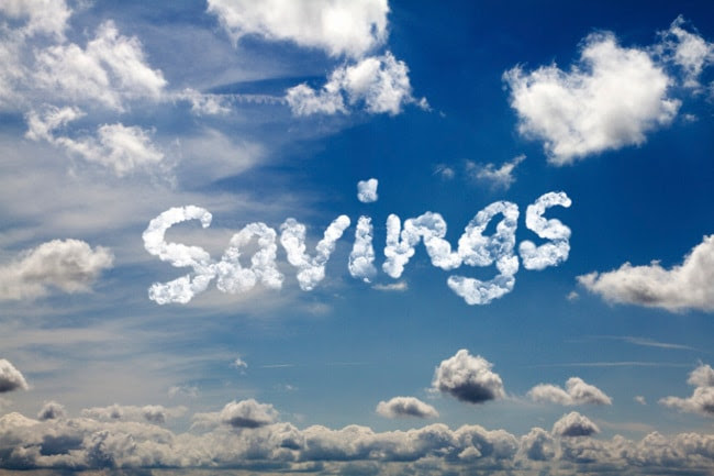 Savings written in the clouds