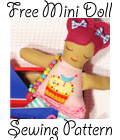 Free Mini Small Cloth Doll Sewing Pattern Tutorial