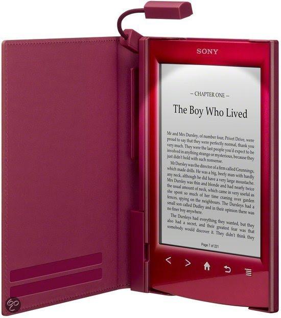 Sony Reader™ LED Cover met Leeslampje (PRSACL22R) - Rood