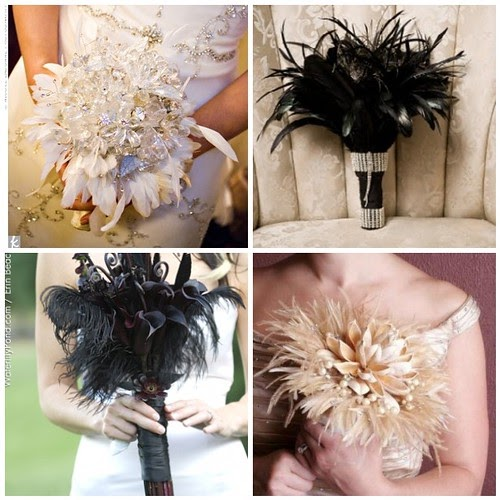 Diy Feather Bouquets Weddings: Things Festive Weddings & Events
