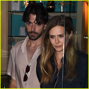 Elizabeth Olsen & Boyfriend Robbie Arnett Dine Out in Paris!
