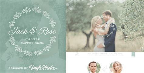 How to create a Wedding Website with WP ? SingleStroke