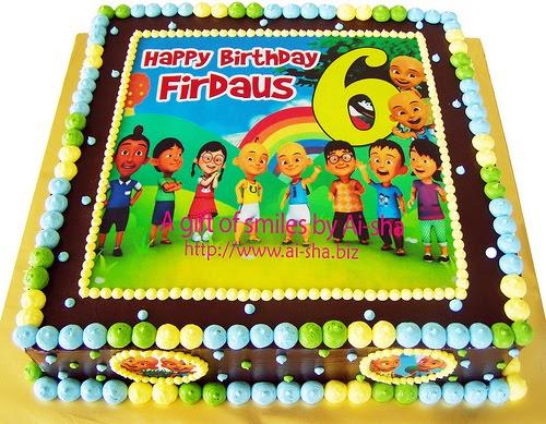 Cake Photo Printing Uk : Birthday Cake Edible Image Upin & Ipin Kek Harijadi ...