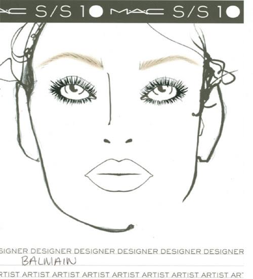 Week SS2010 MAC Makeup Face Charts   TalkingMakeup.com: Daily makeup