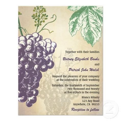 17 Best images about Vineyard Wedding Invitations on