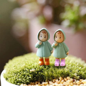 pcs cute mini figurines miniature girl mei resin