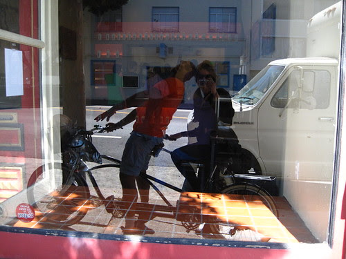 tandem on the window