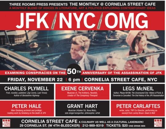 JFK/NYC/OMG feat Charles Plymell, Grant Hart, Exene Cervenka, Legs McNeil
