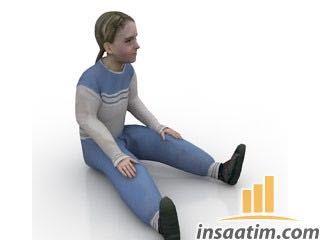 çizim Oturan Kız çocuğu çizimi 3d Model Inşaatımcom