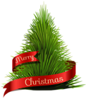 Transparent Merry Christmas Tree PNG Clipart