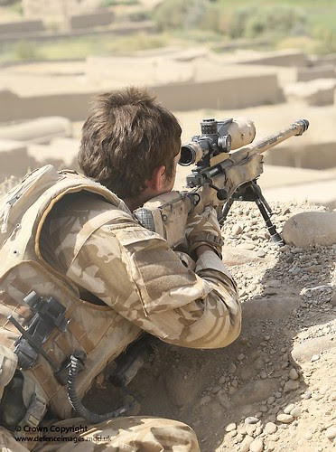 Sniper During Op Oqab Tsuka in Afghanistan