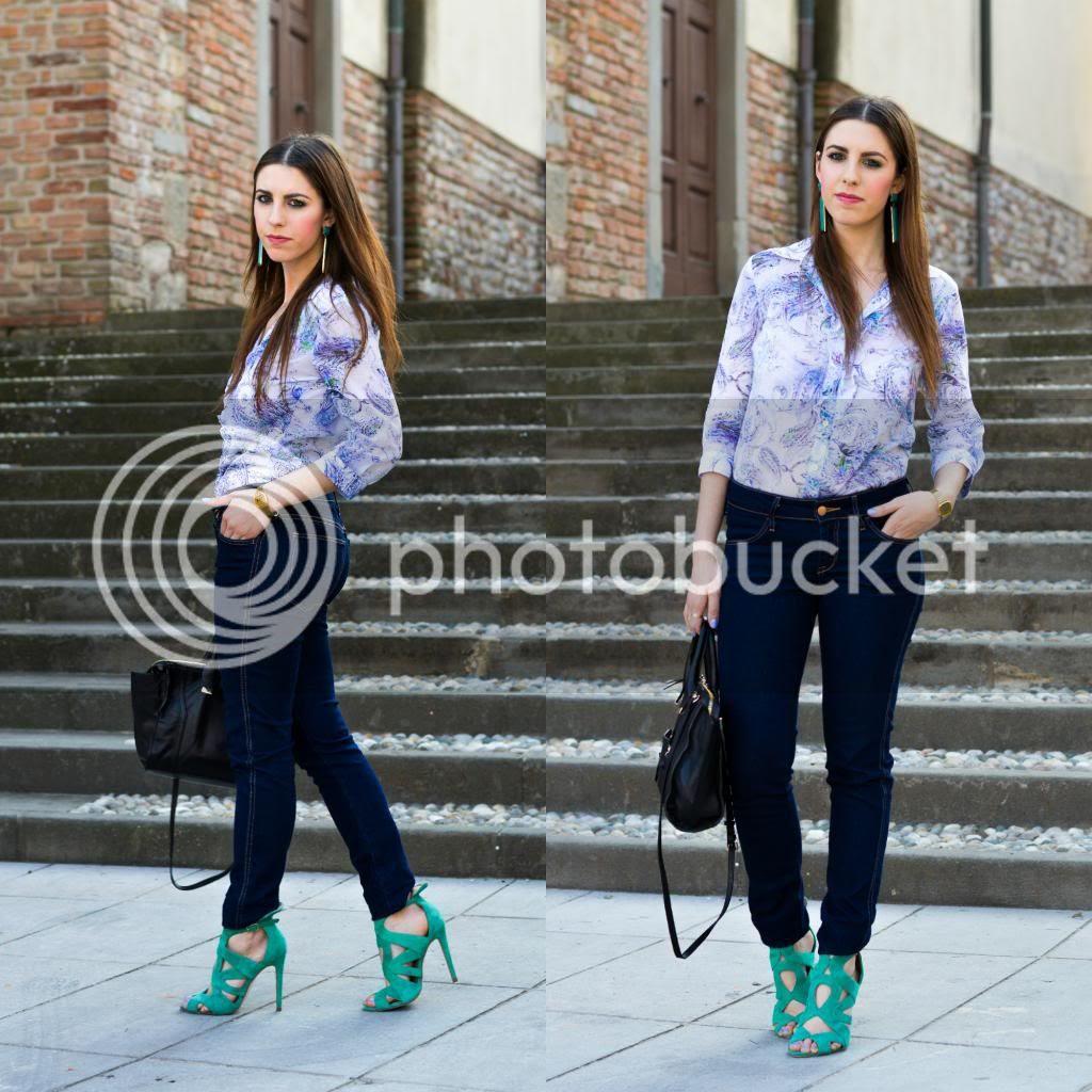 Camicia invidiauomo invidiadonna primavera/estate 2014 look da invidia skinny jeans outfit primaverile casual spring look Thesparklingcinnamon